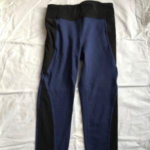 Athleta Girls blue and black Capri legging size 12
